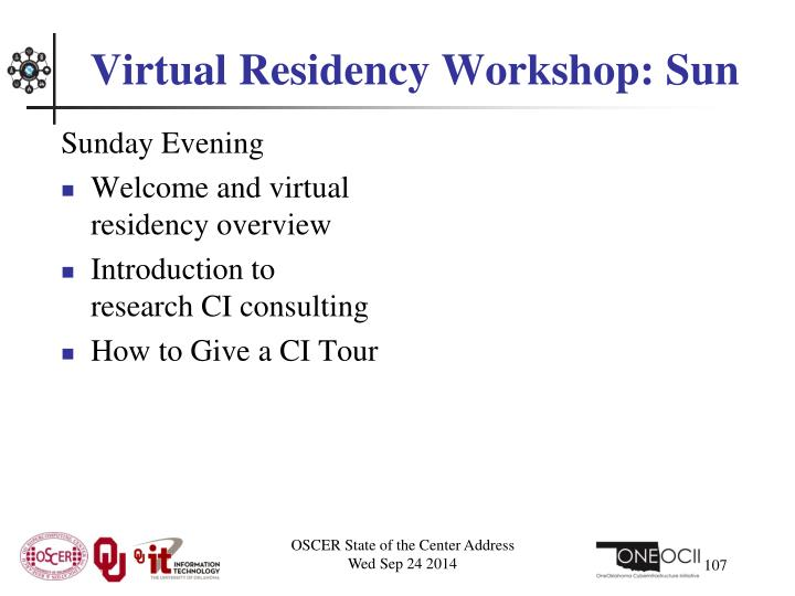 Virtual Residency Workshop: Sun