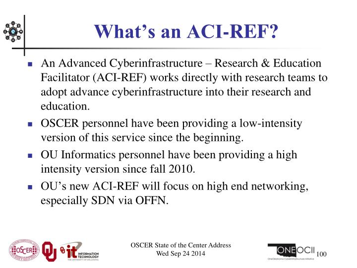 What's an ACI-REF?