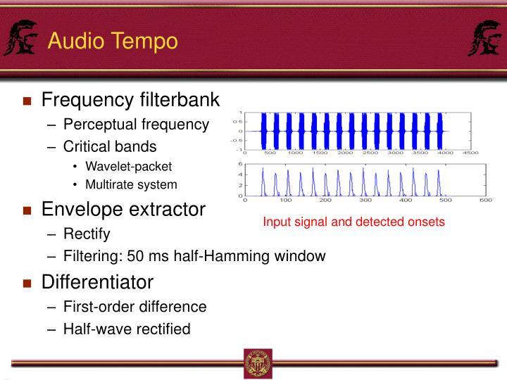 Audio Tempo