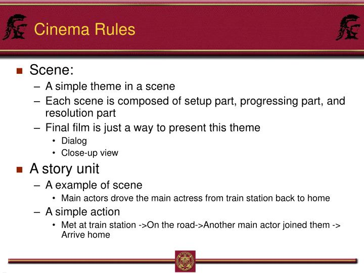 Cinema Rules
