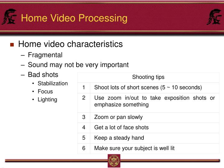Shooting tips