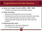 image retrieval and video browsing