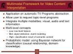 multimodal framework for video content interpretation