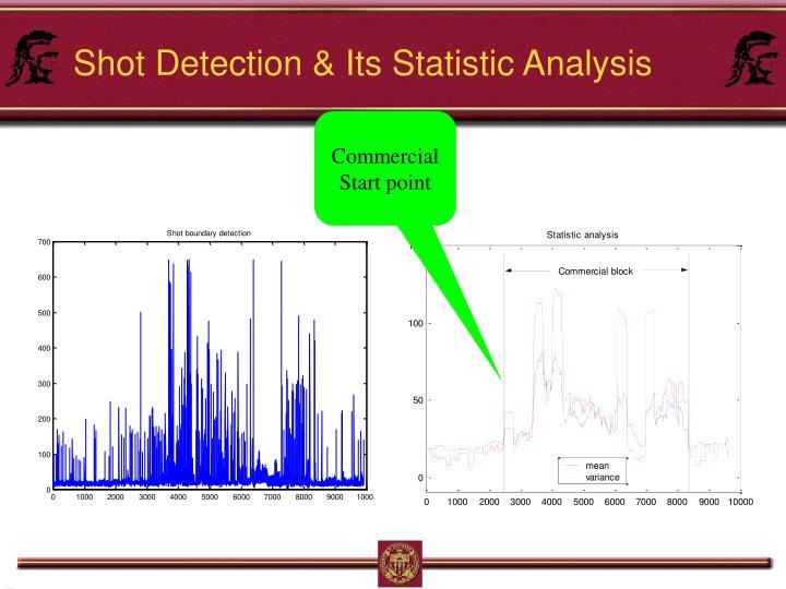 Shot Detection & Its Statistic Analysis