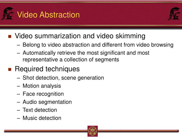 Video Abstraction