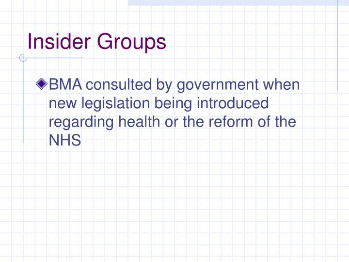 Insider Groups