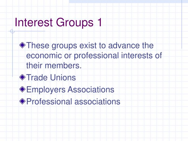 Interest Groups 1