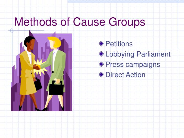 Methods of Cause Groups