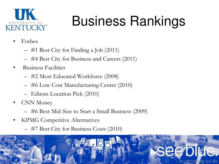 Business Rankings