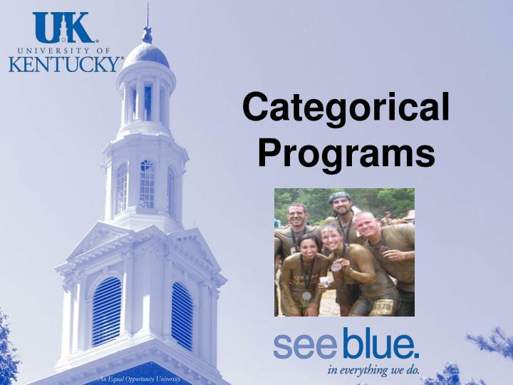 Categorical Programs