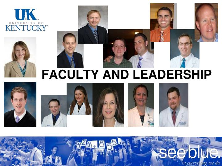 Faculty and Leadership