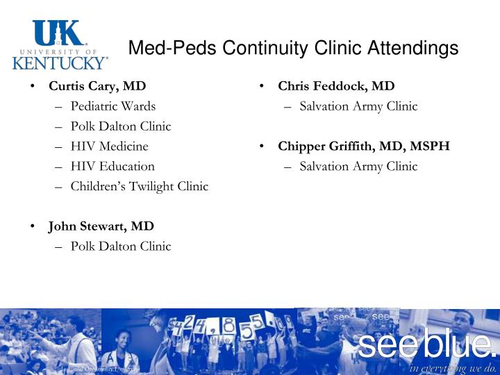 Med-Peds Continuity Clinic Attendings