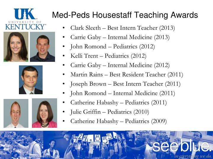 Med-Peds Housestaff Teaching Awards