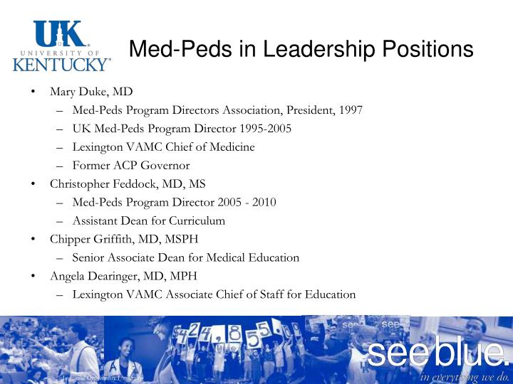 Med-Peds in Leadership Positions