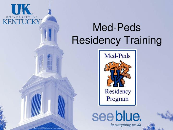 Med peds residency training