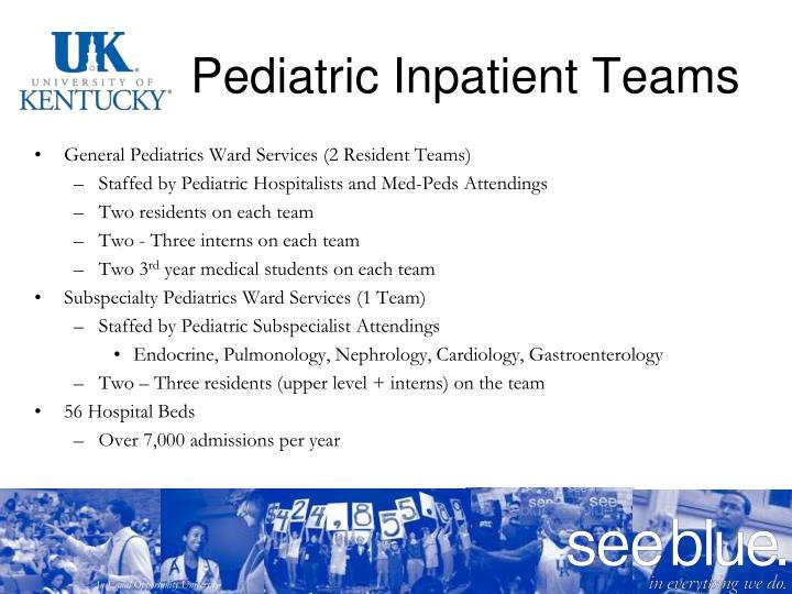 Pediatric Inpatient Teams