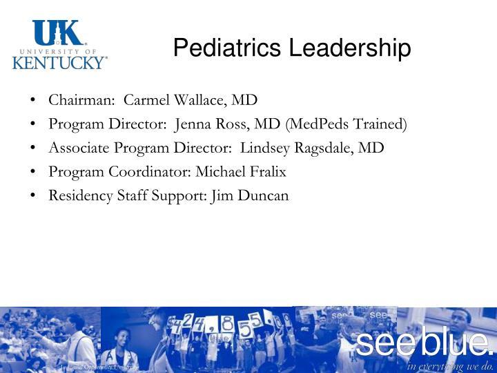 Pediatrics Leadership