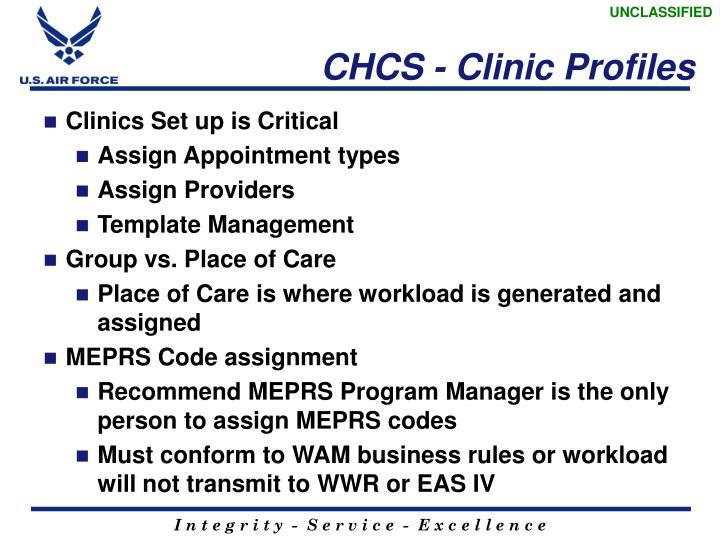 CHCS - Clinic Profiles