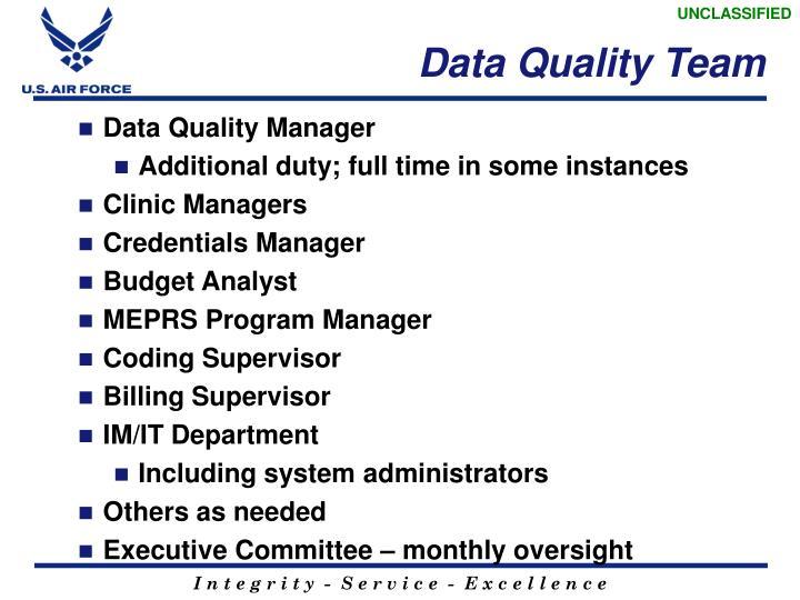 Data Quality Team