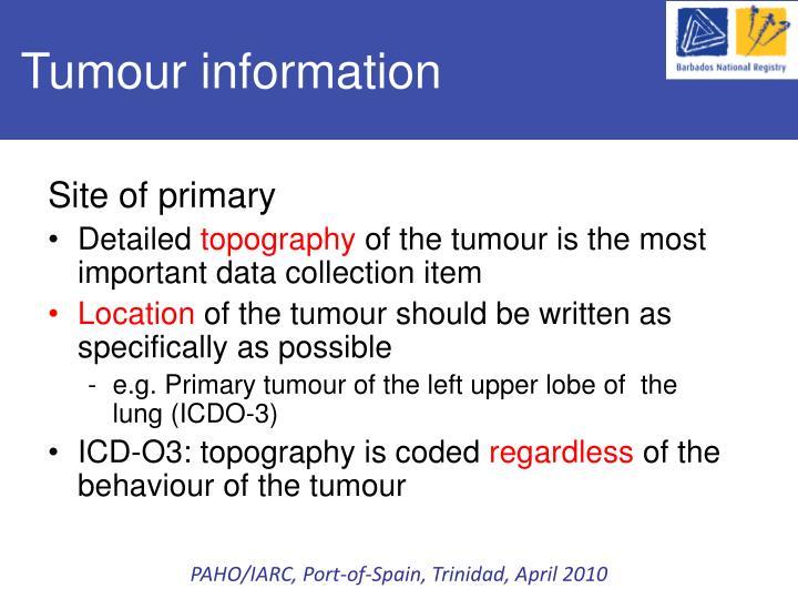Tumour information