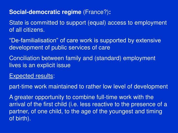 Social-democratic regime