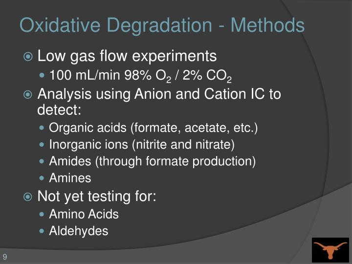 Oxidative Degradation - Methods