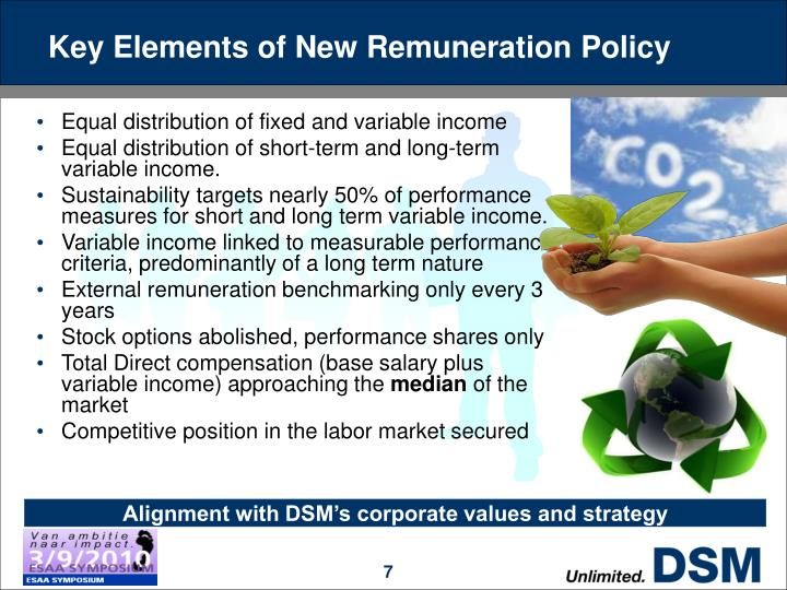 Key Elements of New Remuneration Policy
