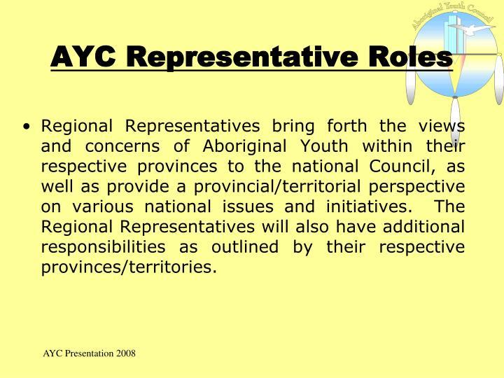 AYC Representative Roles