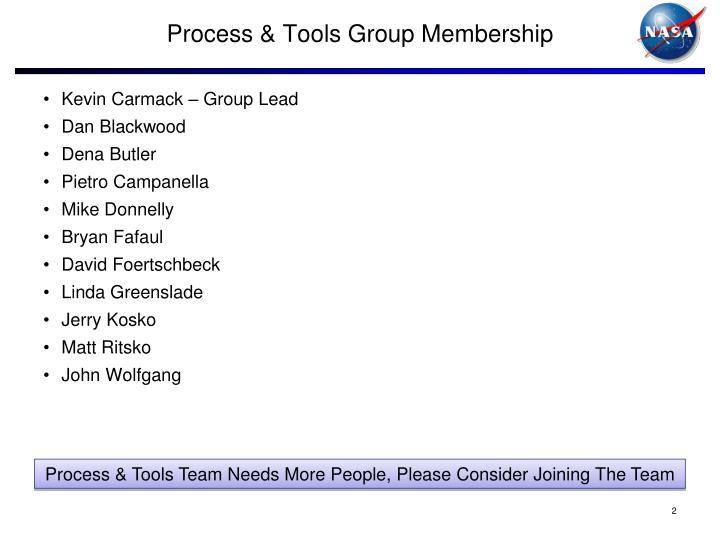 Process & Tools Group Membership