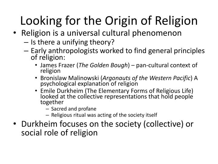 Looking for the Origin of Religion