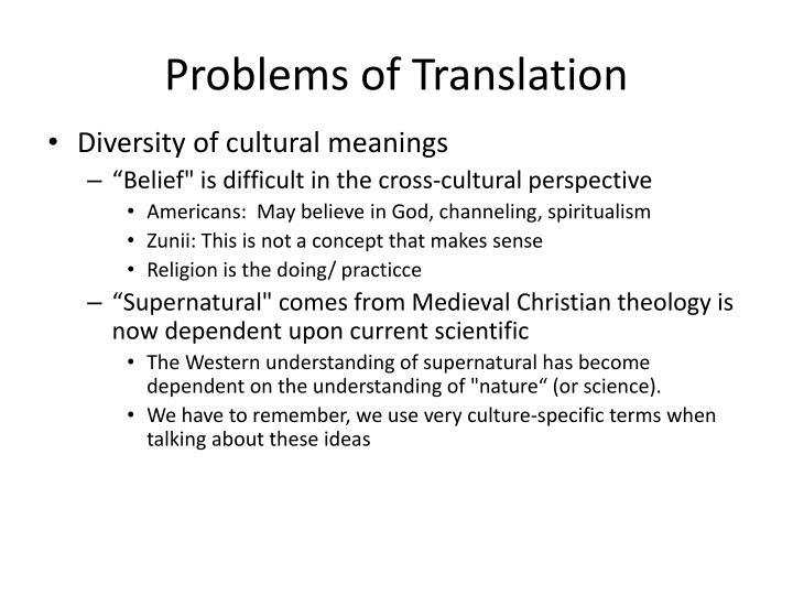 Problems of Translation