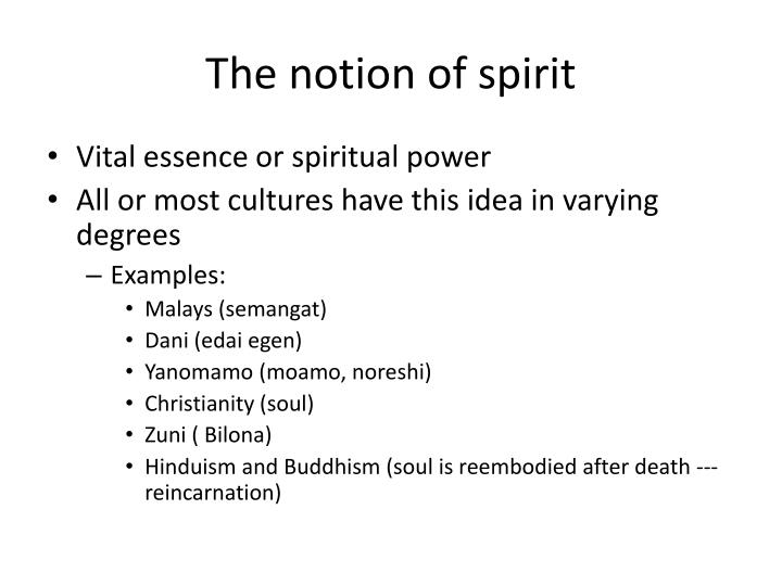 The notion of spirit