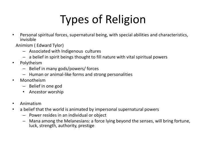 Types of Religion