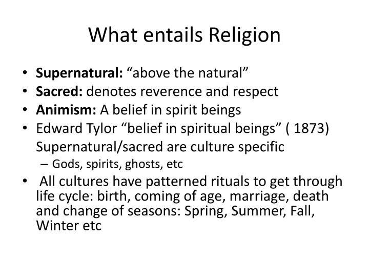 What entails Religion