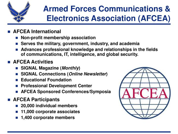 Armed forces communications electronics association afcea
