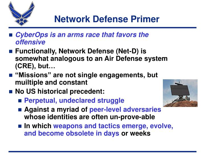 Network Defense Primer
