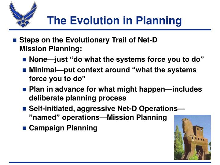 The Evolution in Planning
