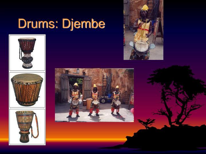 Drums: Djembe