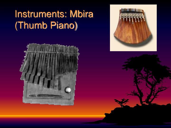 Instruments: Mbira