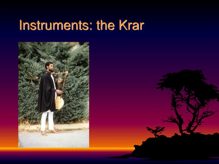 Instruments: the Krar