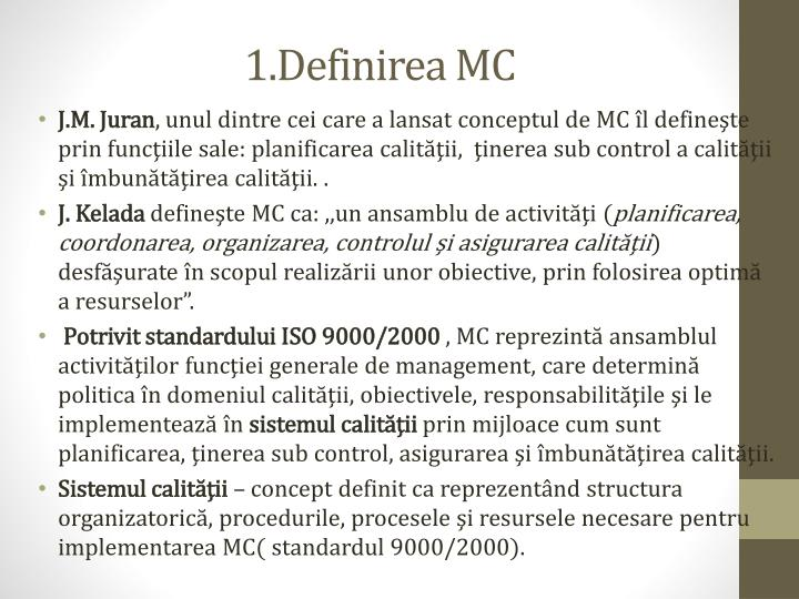 1.Definirea MC