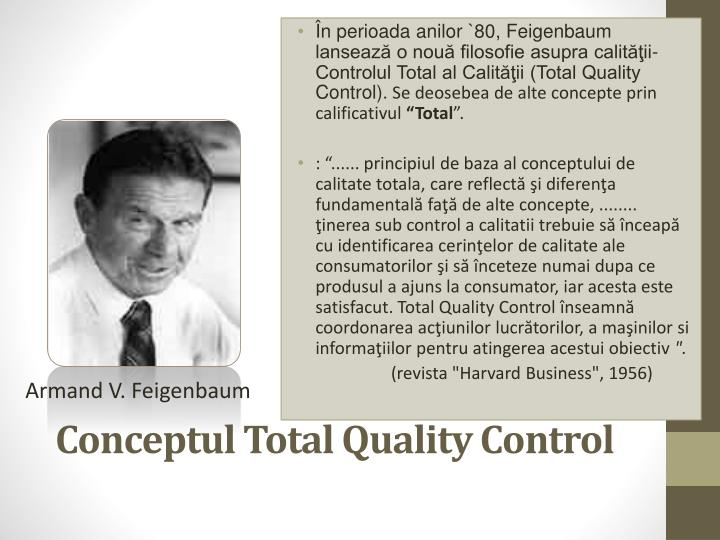Conceptul Total Quality Control