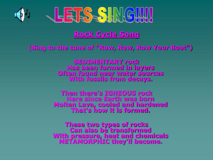 LETS SING!!!!