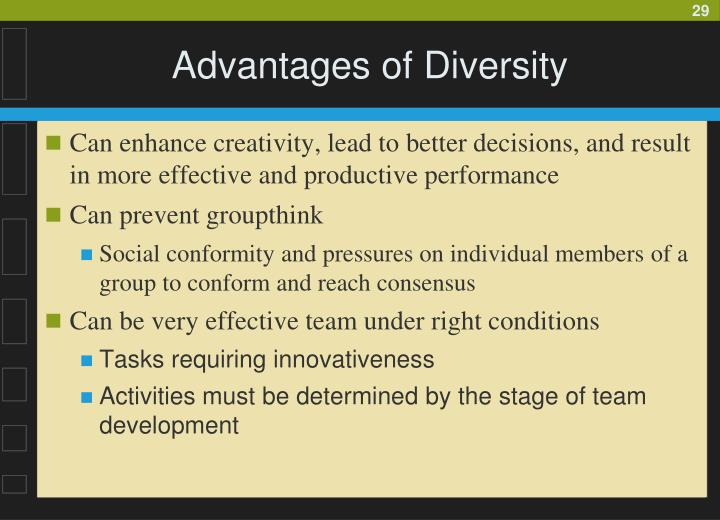 Advantages of Diversity