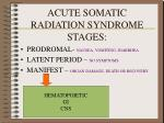 acute somatic radiation syndrome stages