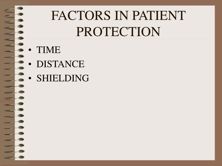 FACTORS IN PATIENT PROTECTION