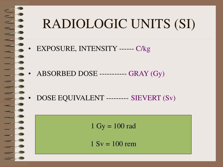 RADIOLOGIC UNITS (SI)
