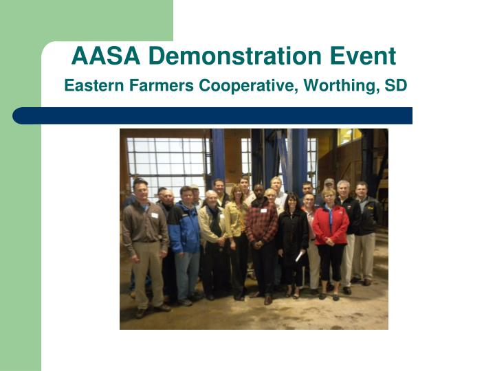 AASA Demonstration Event
