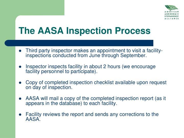 The AASA Inspection Process