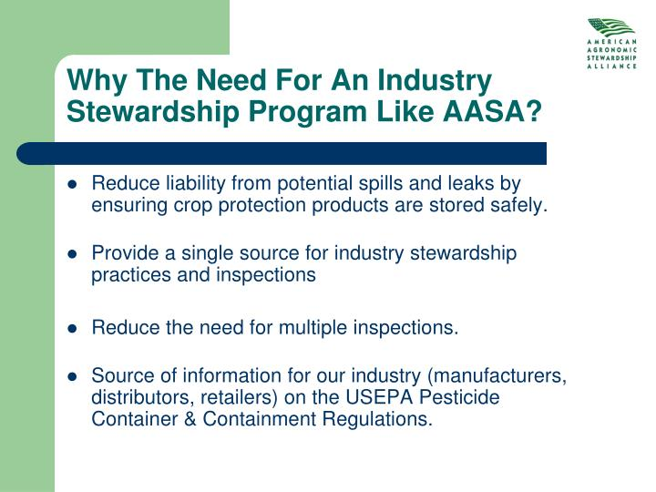 Why The Need For An Industry Stewardship Program Like AASA?